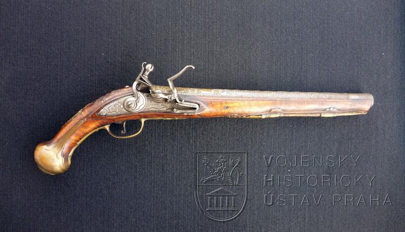 Pistole s křesadlovým zámkem, D. Zanoni, Brescia, kolem 1730