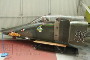 Příď letounu MiG-23 BN