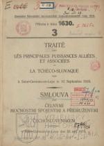 Smlouva mezi čelnými mocnostmi spojenými a přidruženými a Čechoslovenskem podepsaná v Saint-Germain-en-Laye dne 10. září 1919