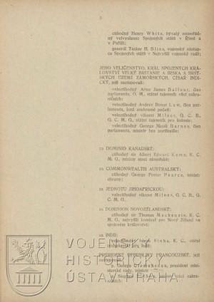 První list smlouvy s jejími signatáři.