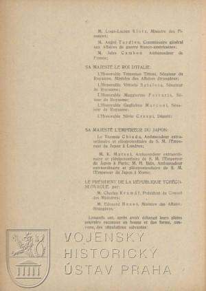 Druhý list smlouvy s jejími signatáři.
