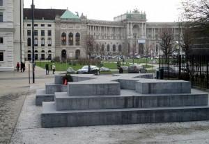Pomník obětem nacionálně socialistické vojenské justice ve Vídni. FOTO: J. Plachý