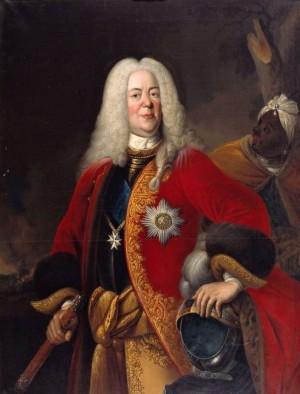 Vévoda Ludvík Rudolf Brunšvicko-Wolfenbüttelský (1671–1735), na jehož objednávku byly obě pistole s největší pravděpodobností vyrobeny.
