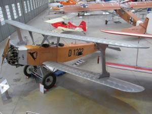 Replika německého cvičného letounu Udet U 12 Flamingo z dvacátých let minulého století. FOTO: Ivo Pejčoch