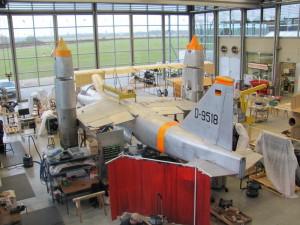 Německá experimentální kolmostartující stíhačka EWR VJ 101C během rekonstrukce. FOTO: Ivo Pejčoch