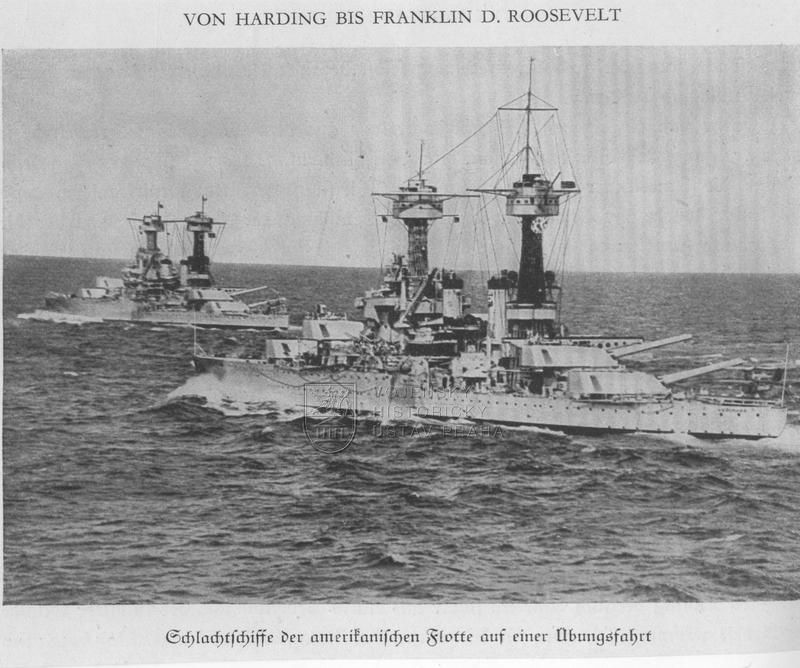 Dvojice amerických bitevních lodí třídy Colorado
