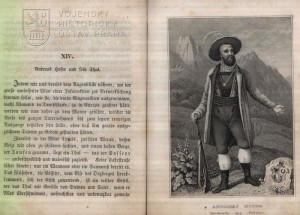 Ukázka textu a vyobrazení Andrease Hofera.
