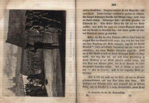Ukázka textu a vyobrazení popravy Andrease Hofera 20. února 1810.