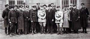 Generální štáb čs. branné moci v roce 1920 v čele s gen. Mauricem Pellé.