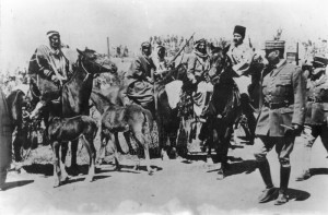 Francouzský generál s alžírskými jezdci, počátek druhé světové války