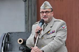 Ředitel VHÚ Aleš Knížek při zahájení letošní muzejní sezóny v Leteckém muzeu Kbely