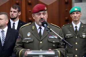 Náčelník GŠ AČR, armádní generál Aleš Opata při zahájení výstavy ke 100 letům Generálního štábu