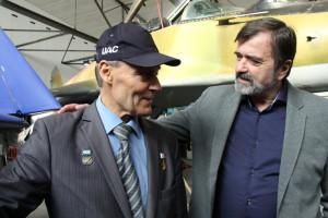 Anatolij Kvočur (vlevo) při setkání s Václavem Vaškem