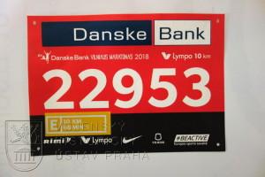 Startovní číslo z mezinárodního běhu ve Vilniusu od 1.rÚU AČR eFP LITVA