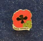 Klopový pamětní odznak Dne válečných veteránů s českou národní symbolikou