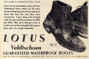 Inzerce značky Lotus na odolné boty zahrnovala i recenze spokojených zákazníků. FOTO: VÚA–VHÚ