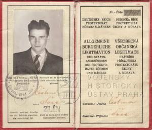Falešná občanská legitimace parašutisty Čestmíra Šikoly