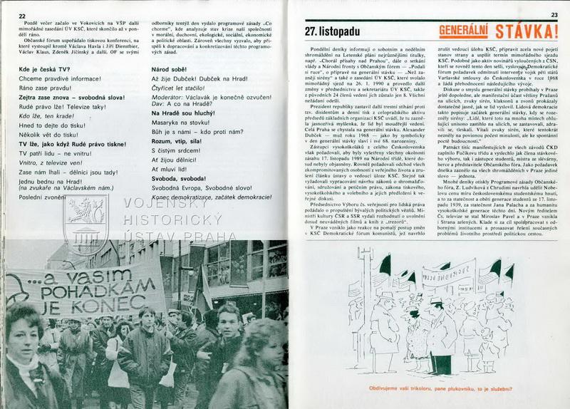 27. listopad 1989 – generální stávka.