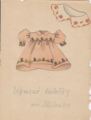 Několik stránek z Pohádek pro Milunku, které věnovala Marii Pětrošové v Ravensbrücku Jožka Jabůrková.  FOTO: VÚA–VHA