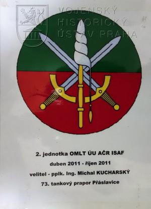 Pamětní deska 2. jednotky poradního a výcvikového týmu OMLT