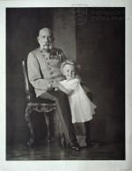 František Josef I. s malým arcivévodou Ottou, 18. září 1914