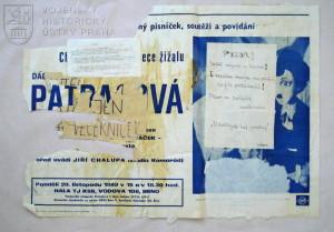 Leták z období sametové revoluce, Brno, listopad 1989