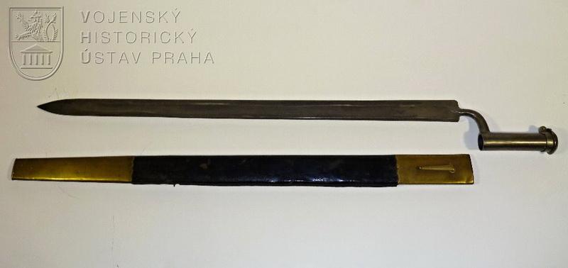 Rakouský tulejový bodák vzor 1796 na myslivecké pušky vzor 1796, vzor 1807, vzor 1807/35 a vzor 1842