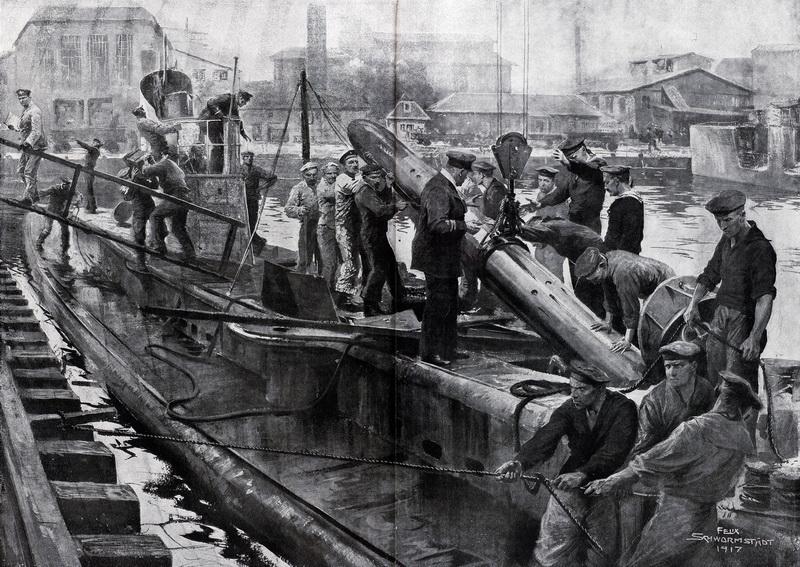 Zahájení neomezené ponorkové války vroce 1917