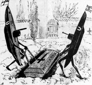 """""""Naše statečné ponorky nepřestanou, dokud světovou válku neuloží do hrobu."""" Touto bizarní alegorií vídeňský Kikeriki! komentoval boj, v jehož úspěch Ústřední mocnosti vkládaly tolik očekávání"""