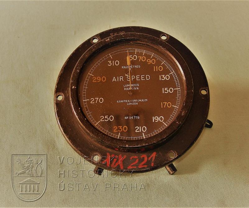 Letecký rychloměr Smith & Sons M.A. Mk. IV A