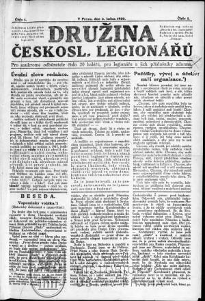 První číslo z ledna 1920.