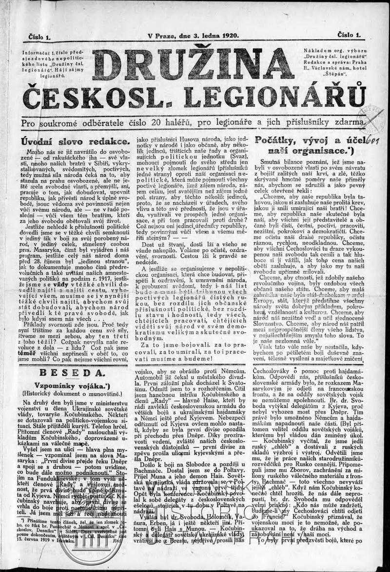 Noviny Družina čs. legionářů