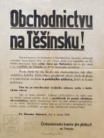 Vyhláška Obchodnictvu na Těšínsku!, 1920