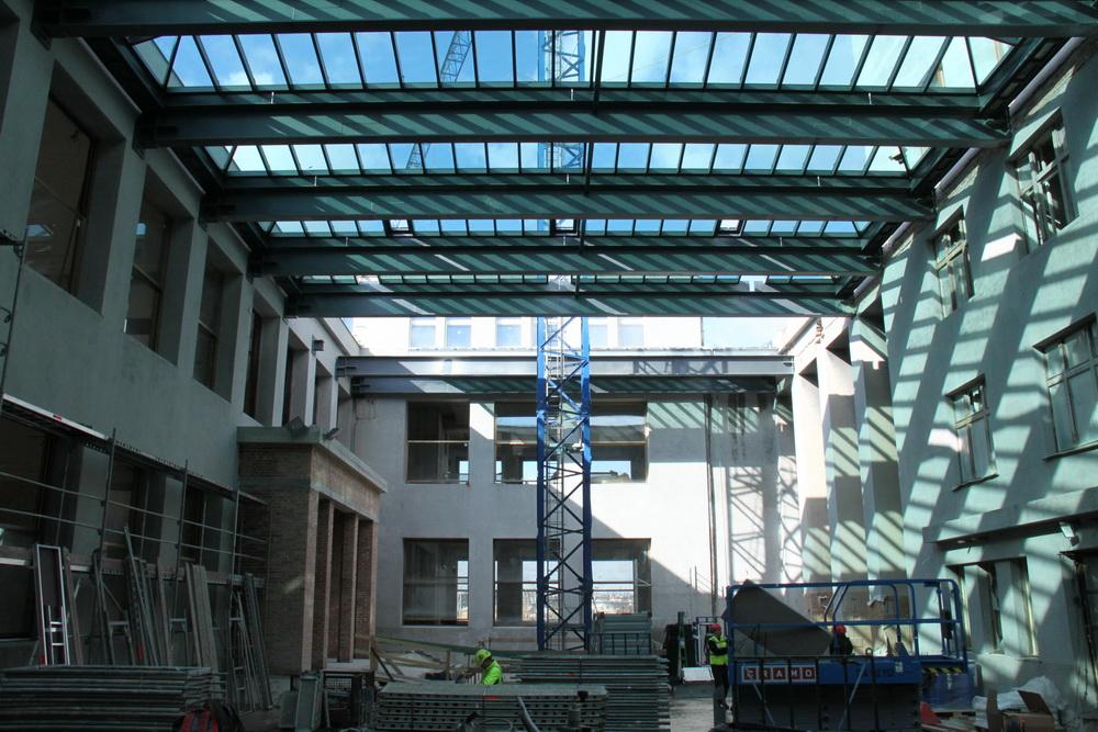 Uvnitř stavby. Fotogalerie z probíhající rekonstrukce žižkovského muzea.