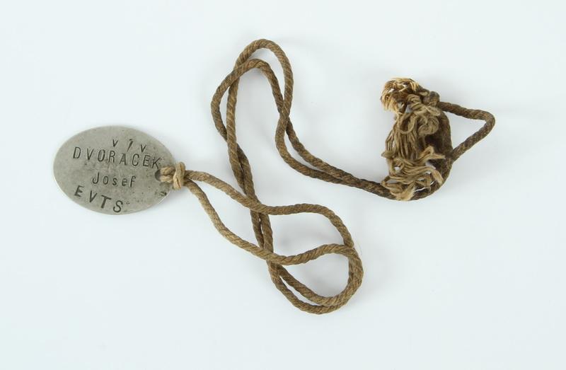 Francouzská identifikační známka Mle 1881 z pozůstalosti Josefa Dvořáčka