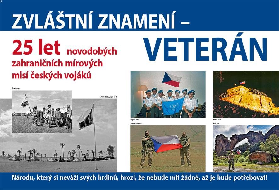 Zvláštní znamení veterán – novodobé mise českých vojáků
