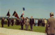 Oslavy v Darney 14. července 1975 - po pravé ruce Jaromíra Píseckého starosta Pairon, po levé ruce předseda Masulier