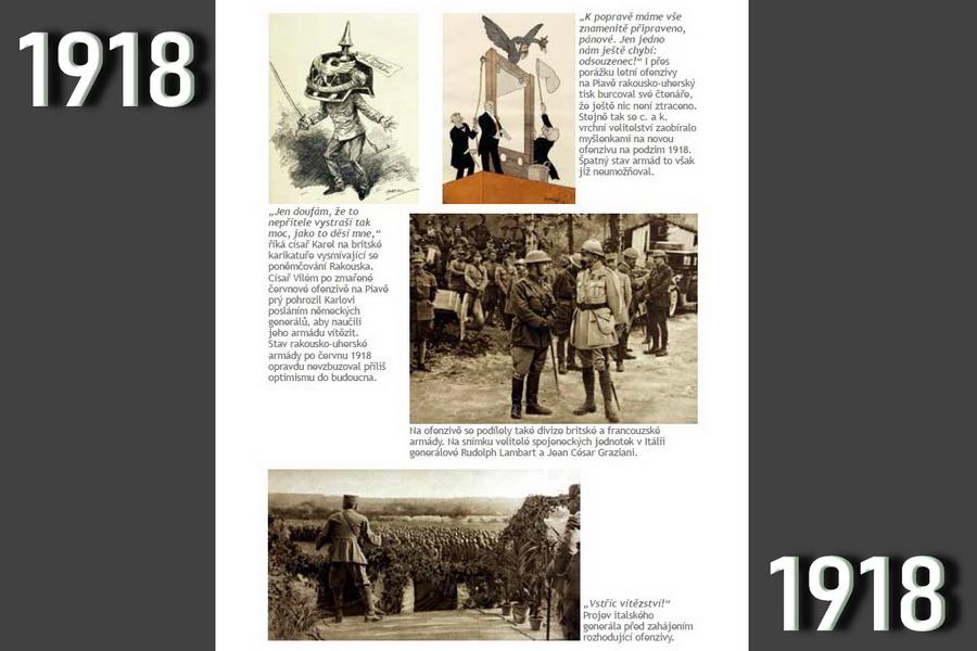 Starý svět mrtev, ať žije nový? Válečný rok 1918.