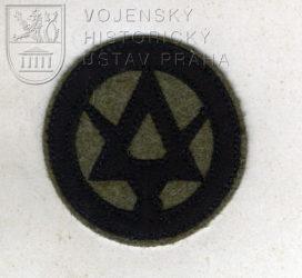 Československý rukávový odznak pro dělostřelecké měřické roty, 1920