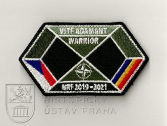 Rukávový znak cvičení Adamant Warrior, ČR, 2020