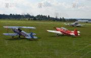 Setkání tří létajících exponátů VHÚ na letišti ve Zbraslavicích. Šlo o Aero C-104, Zlín Z-126 Trenér (C-105) a Let L-200 A Morava