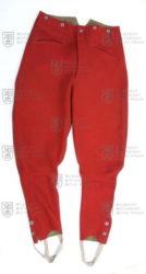 Červené kalhoty pro jezdectvo a remontnictvo, ČSR, 1932