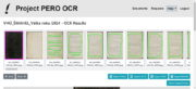 Jeden z rozpracovaných deníků ze sbírek VHÚ Praha v online editačním rozhraní PERO OCR