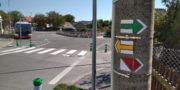 Centrum Točné, kde začíná Stezka svobody. Je značena červenou půlenou značkou a v některých místech sleduje také žlutou nebo zelenou turistickou značku. Foto Andrej Halada.