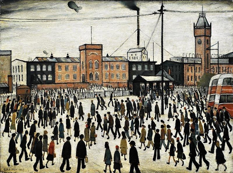Lowryho válečný obraz se vrátil do Manchesteru
