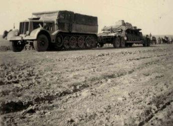 Německý polopásový tahač Sd.Kfz. 9 na východní frontě
