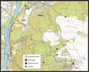 Mapka trasy Stezky svobody.