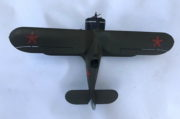 Model stíhacího dvouplošníku Polikarpov I-153, 1:25, Jiří Pála, 1972.