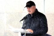 Setkání na Vítkově 25. září 2020: předseda Spolku válečných veteránů Československého samostatného protichemického praporu František Gábor