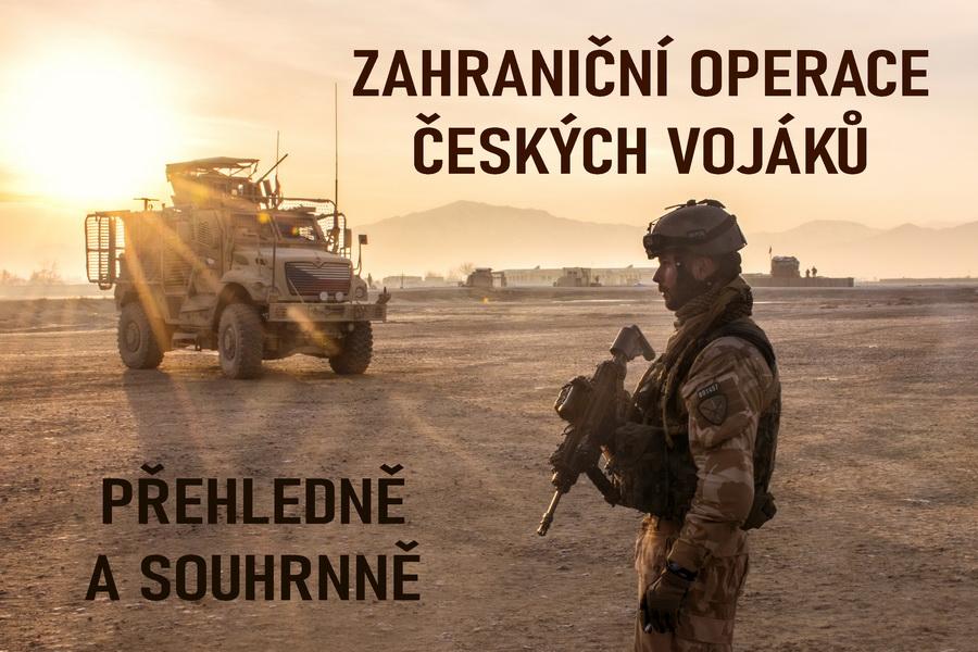 Čeští vojáci v novodobých zahraničních operacích, seznam jednotlivých misí